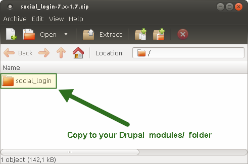 Drupal 7 - Copy Social Login Files