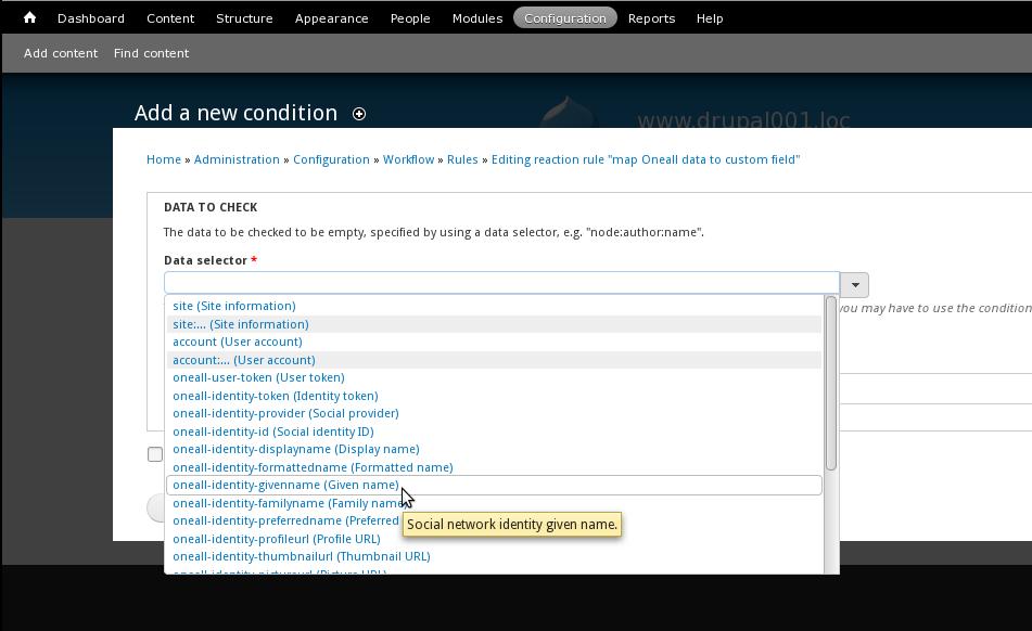 Drupal 7 - Rules Data Selector