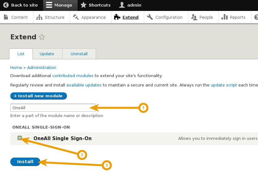 Drupal 8 - Install Single Sign-On