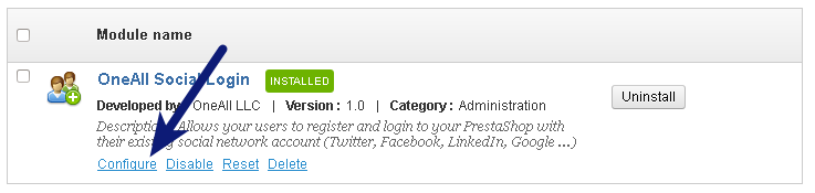Setup Social Login for PrestaShop