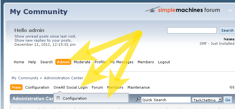 Social Login for Simple Machines Forum: Configuration