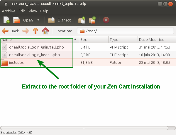 Zen-Cart Social Login Install Root