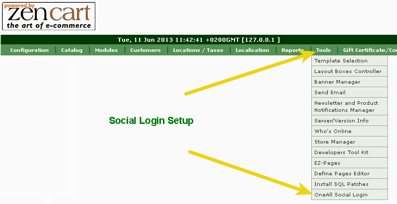 Zen-Cart Social Login setup